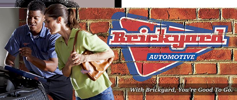 Brickyard Auto Car Mechanic With Woman Customer