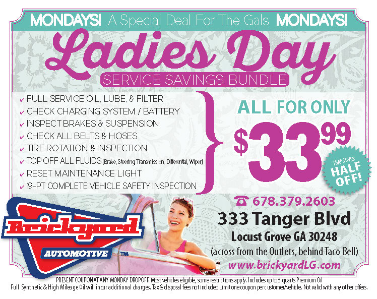 Modays Are Ladies Day - half price oil change service